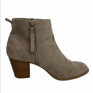 Old Navy Suede Mid Ankle Boots Taupe Like New Read